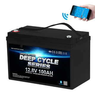 Bluetooth 12v100ah LiFePO4 Deep Cycle Marine RV Motorhome Golf Cart Battery